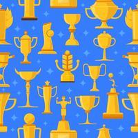 Prêmios e copos de ilustração sem emenda