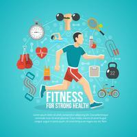 Ilustração do conceito de fitness