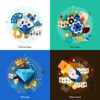 Conjunto de ícones de pôquer