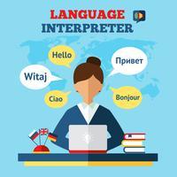 Ilustração de tradutor de linguagem vetor
