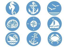 Pacote vetorial de símbolos náuticos
