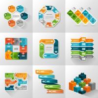 Conjunto de ícones de modelos de infográfico vetor