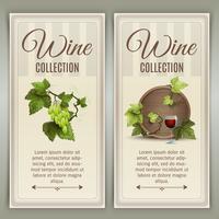 Conjunto de bandeiras verticais de vinho vetor