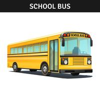 Projeto de ônibus escolar vetor