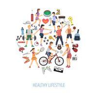 Conceito de estilo de vida saudável vetor