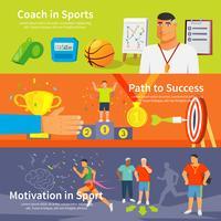 Conjunto de Banner de esporte de treinamento vetor