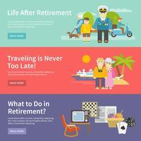 Conjunto de Banner de vida dos pensionistas vetor