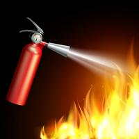 Ilustração de extintor de incêndio vetor