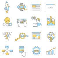 Linha de ícones da Web