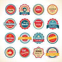 Emblemas de cor de qualidade Premium vintage vetor
