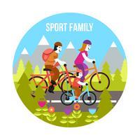 Conceito de família de esporte vetor