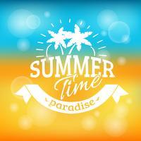 Cartaz de fundo de férias de férias de verão vetor