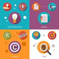 Proteção da ideia de patentes vetor