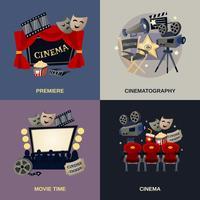 Conjunto plano de cinema