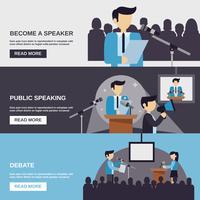 Banner de falar em público vetor