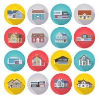 conjunto de ícones de casa plana vetor