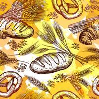 Padrão sem emenda de trigo vetor