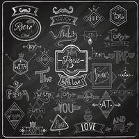 Design de giz de quadro-negro de catchwords vetor