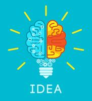 conceito de ideia de cérebro vetor