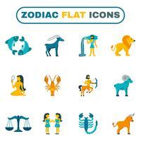 ícone do zodíaco plana vetor