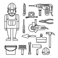 Poder de reparos domésticos DIY vetor