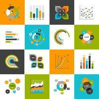 Conjunto de gráficos de negócios