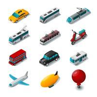 Conjunto de ícones de transporte público vetor