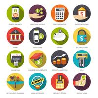 Conjunto de ícones de empréstimo