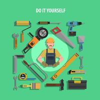Ilustração plana de conceito de ferramentas