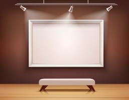 Galeria Interior Ilustração vetor