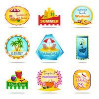 Conjunto de emblemas de férias