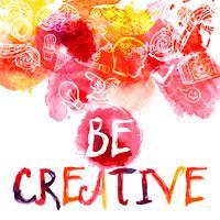 Conceito de aquarela de criatividade vetor