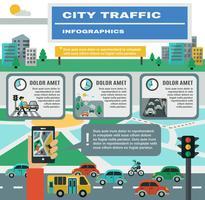 Conjunto de infográficos de tráfego vetor