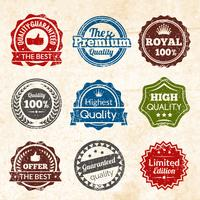 Qualidade Premium Vintage vetor