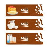 Banners de produtos lácteos