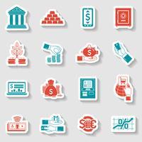 Conjunto de adesivos bancários