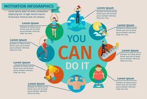 Conjunto de infográficos de motivação