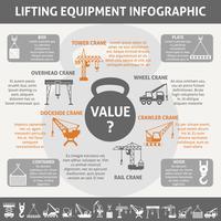Infográfico de equipamentos industriais vetor