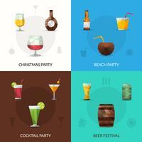 Conjunto poligonal de bebidas