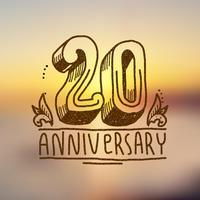 Sinal de aniversário 20 vetor