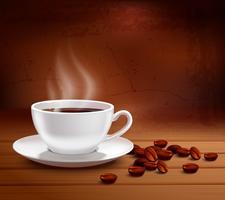 Ilustração de fundo de café