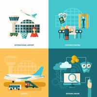ícone do aeroporto plano
