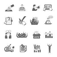 Conjunto de ícones de eleição vetor