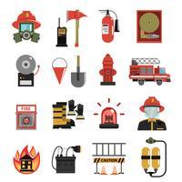 Fogo, ícone, apartamento vetor