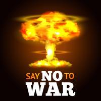 Cartaz de explosão nuclear vetor