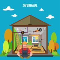 Reparação de ferramentas planas vetor
