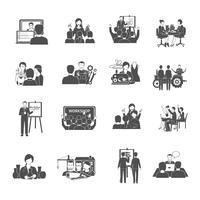Conjunto de ícones de oficina