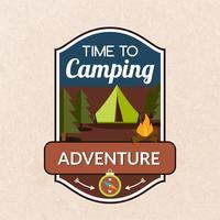 Emblema de acampamento de verão vetor