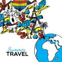 ilustração de mão desenhada de viagens vetor