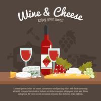 Vinho e queijo vida ainda vetor